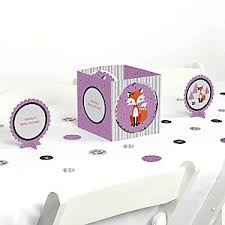 miss foxy fox baby shower decorations u0026 theme babyshowerstuff com