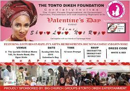 tonto dikeh u0027s charity set to host