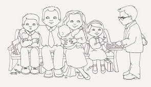 susan fitch design sacrament family illustration u0026 coloring page