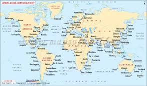 map port world sea ports map maps