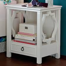 White Bedside Table Elsie Bedside Table Pbteen