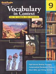 vocabulary in context for common core standards grade 9 051623