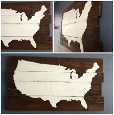 wooden united states wall diy map sign rustic painted united states wall popular with