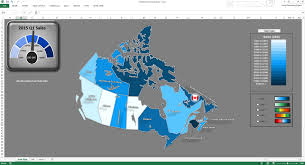 United States Map Template by Excel Canada Sales Map Dashboard Template Youtube