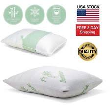 Hotel Comfort Memory Foam Pillow Two King Size Pillows Hotel Comfort Hypoallergenic Bamboo Shredded