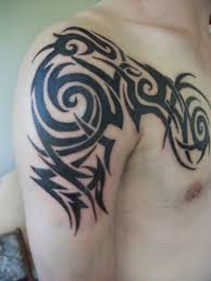 arm and chest tribal by blackspindl8 on deviantart