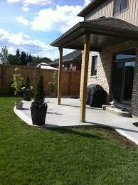 Patio Deck Ideas Backyard by Broom Finished Concrete Patio In Komoka Ontario Patio Ideas