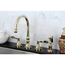 polished brass kitchen faucet polished brass 4 kitchen faucet and brass sprayer free