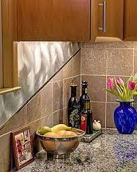 Slate Backsplash Kitchen Kitchen Backsplash With Polished And Matte Slate Tiles And Metal