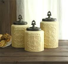 black ceramic kitchen canisters ceramic kitchen canister sets or canister set set 4 22 black