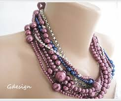 blue pearl necklace images Claret dark blue pearl necklace chic selections shop jpg