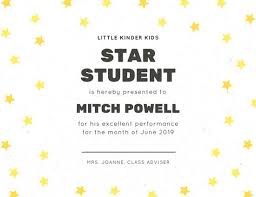 student certificate templates canva