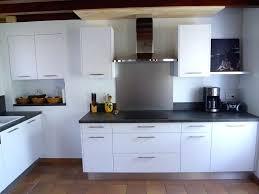 cuisine équipée blanc laqué cuisine equipee blanche cuisishop a implantation de cuisine en u a