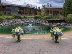 Wedding Arches Calgary Wedding Ceremony Arch Flowers At The Rimrock Resort In Banff