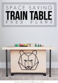 train table plans space saving diy train table free plans cherished bliss
