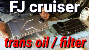 toyota fj cruiser transmission fluid and filter change youtube