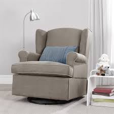 Glider Rocker With Ottoman Dorel Living Baby Relax Colby Swivel Glider Dark Taupe