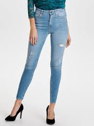 Light Blue High Waisted Jeans High Waist Jeans Buy High Waist Jeans From Only For Women In The