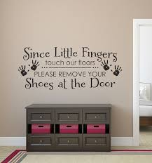Door Decals For Home by Wall Decals For The Home Please Remove Your Shoes Wall Decal