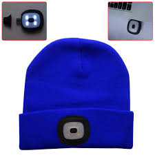 knit hat with led lights 4led winter knit fishing hat usb flashlight cing cap knitted