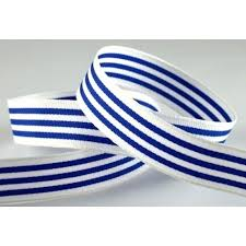 navy blue and white striped ribbon 15mm navy blue white striped ribbon