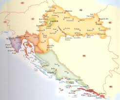maps of croatia