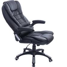 Computer Swivel Chair by Luxury Black Leather Reclining Massage Office Computer Swivel