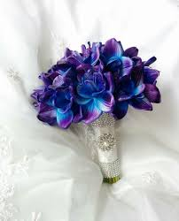 purple and blue wedding wedding touch blue purple dendrobium orchids wedding
