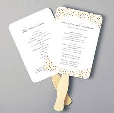 fan program wedding printable fan program fan program template wedding fan template