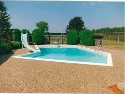 rustic terrazzo swimming pool or spa deck concrete pool deck