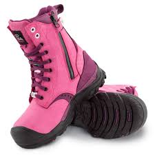 s pink work boots canada s steel toe work boots waterproof csa approved slip