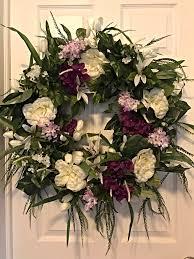 spring wreath spring floral wreath front door wreath decorative