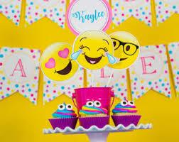 party centerpieces emoji party etsy