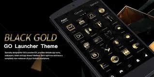 go theme launcher apk black gold go launcher theme apk free personalization