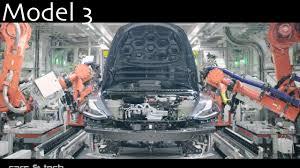 tesla model 3 production line quick look youtube