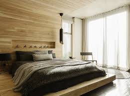 Headboard Wall Decor by Modern Apartment Bedroom Ideas With Wooden Bed And Headboard And