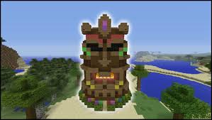 How To Make Tiki Hut Minecraft Tutorial How To Make A Tiki Head House Youtube