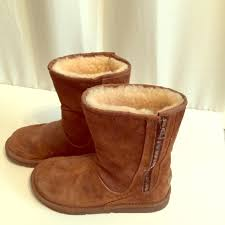ugg s zip boots 50 ugg shoes ugg australia brown mid height side zipper