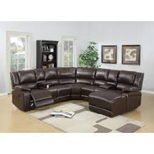 Brown Leather Sectional Sofas With Recliners Reclining Sectionals You U0027ll Love Wayfair