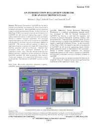 an introduction to labview exercise for an electronics class pdf