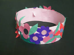 make spring princess or fairy flowers crown craft for girls kids