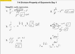7 4 division properties of exponents day 1 youtube