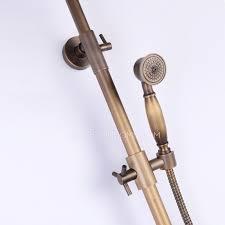 Outdoor Shower Fixtures Copper - bronze 2 handle brass outdoor shower faucets