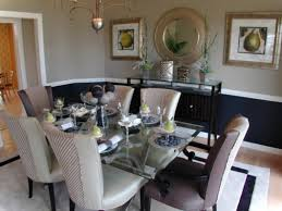 Dinner Table Set by Wallpaper Accent Wall Ideas Dining Table Set Idea Canada Glass