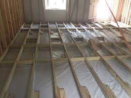 Basement Raised Floor by Raised Floor Over Concrete Slab Modern On Floor Home Design