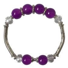 crystal pink bracelet images Fashion exquisite crystal pink purple glass beads bracelet ethnic jpg