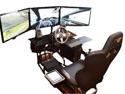 3 monitor chair volair sim affordable flight racing cockpits