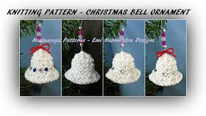 hectanooga patterns knitting pattern bell ornament
