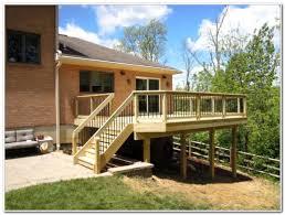 pressure treated wood deck designs decks home decorating ideas