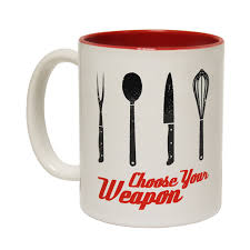 buy 123t choose your weapon chef funny mug at 123t t shirts